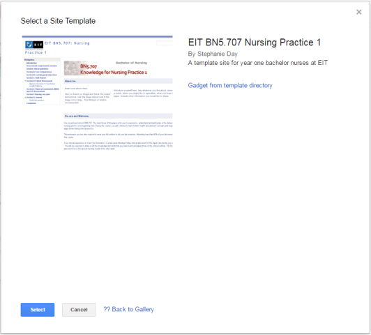 Google Sites - e/Workbooks and e/Portfolios