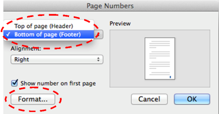Mac Guide: Inserting Page Numbers