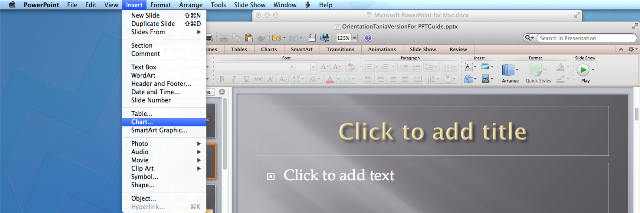 Mac guide inserting a graph mac powerpoint insert graph ccuart Images