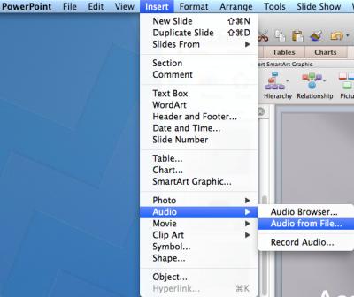 mac guide inserting a sound