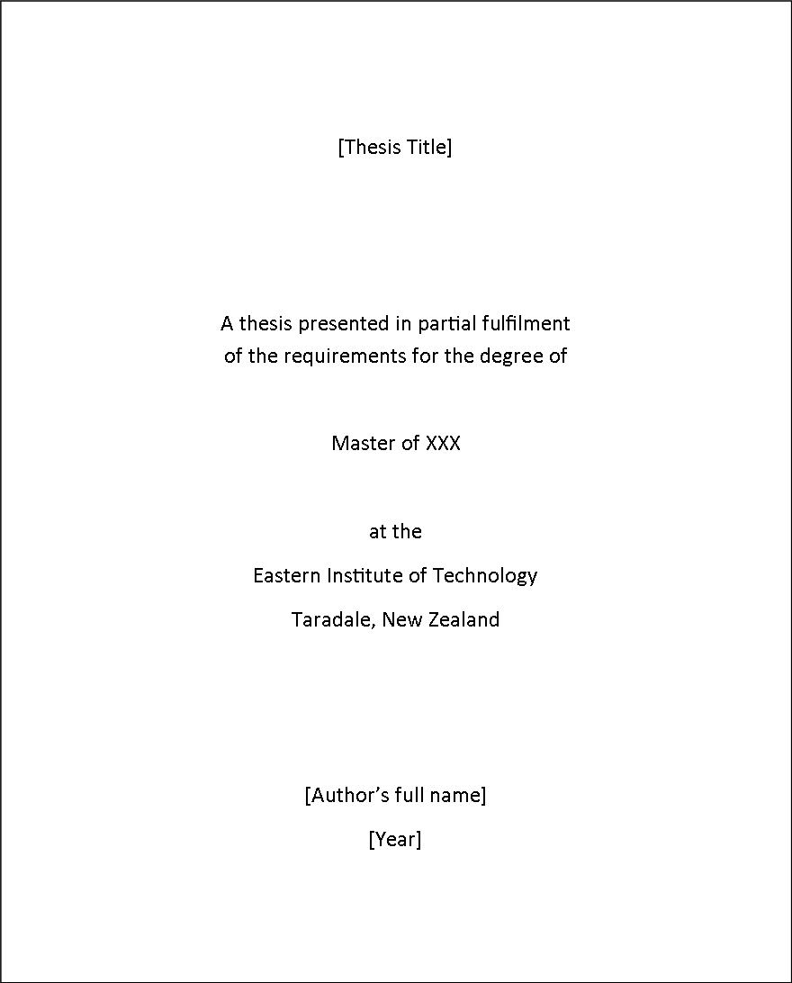 master thesis writing style Thesis format guide could make the writing of your thesis faster and easier if that style is recommended by the committee chair.