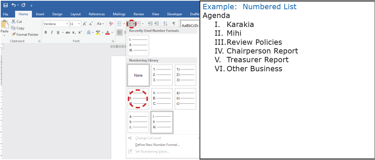 Bullets and numbering numbering change formatting ccuart Choice Image