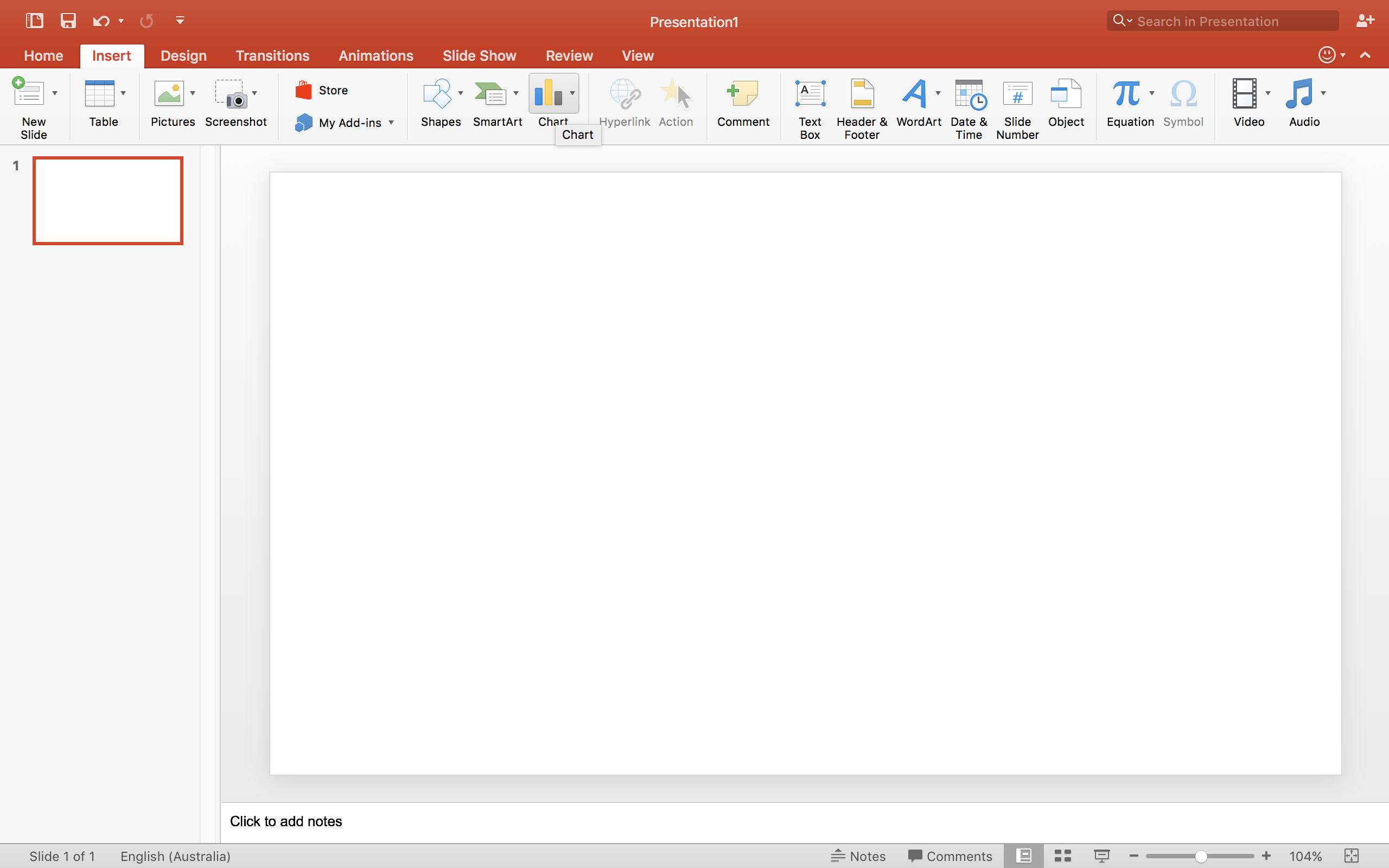 how to make a graph in powerpoint mac
