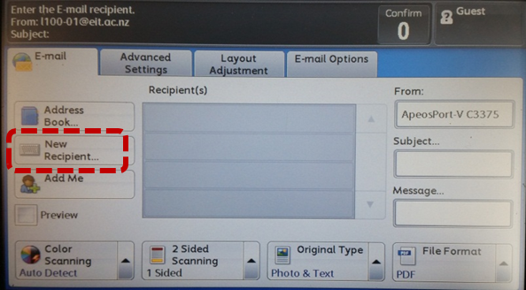 how to send a scan document through email